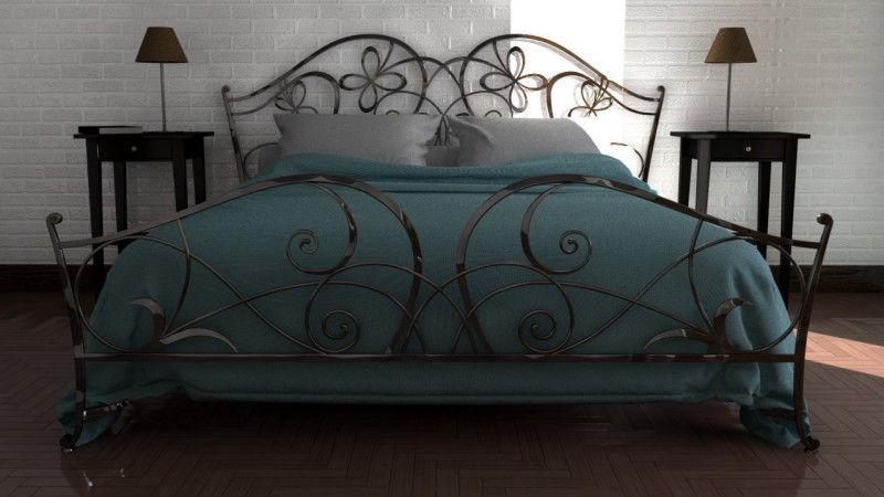 rendering interno camera letto