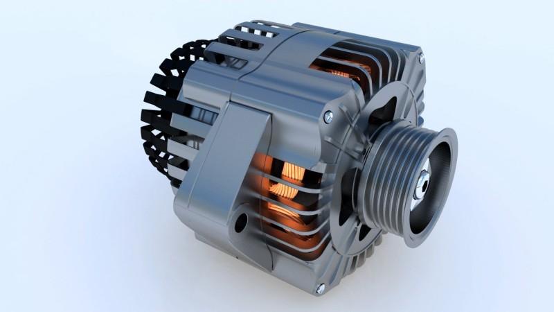 rendering motore elettrico alluminio